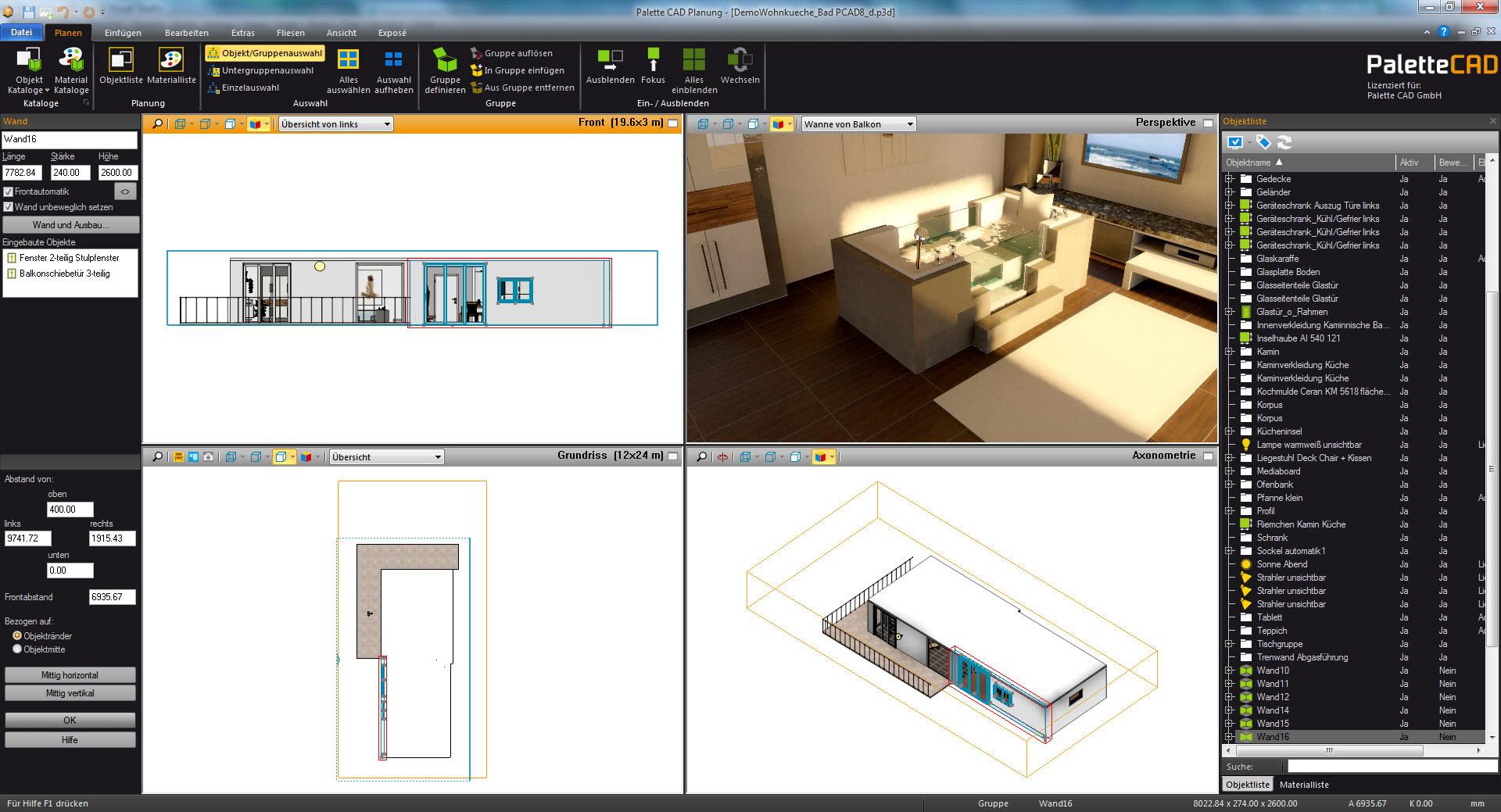 bcgsoft case studio palette cad. Black Bedroom Furniture Sets. Home Design Ideas
